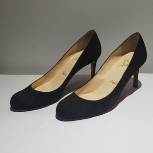 Black Louboutin simple pump 85mm